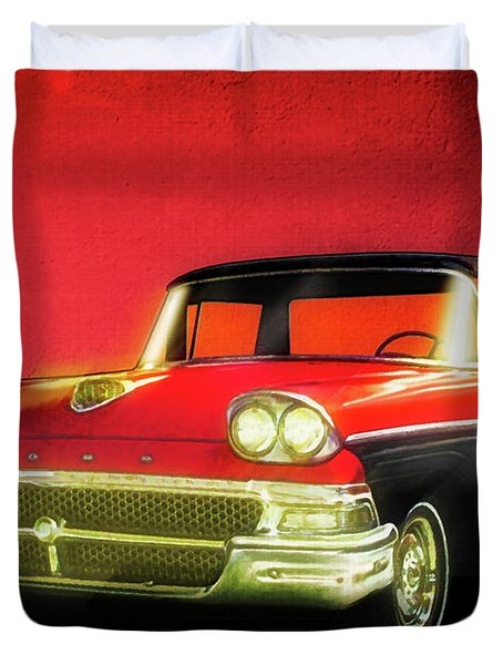 1958 Ford Ranchero 1st Generation Duvet Cover