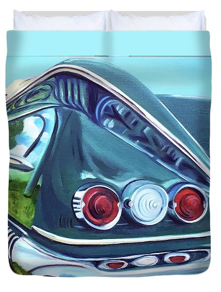 1958 Reflections Duvet Cover