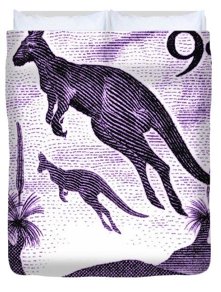 1959 Australia Kangaroo Postage Stamp Duvet Cover