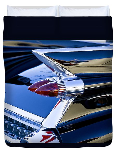 1959 Cadillac Coupe Deville  Duvet Cover by Rich Franco