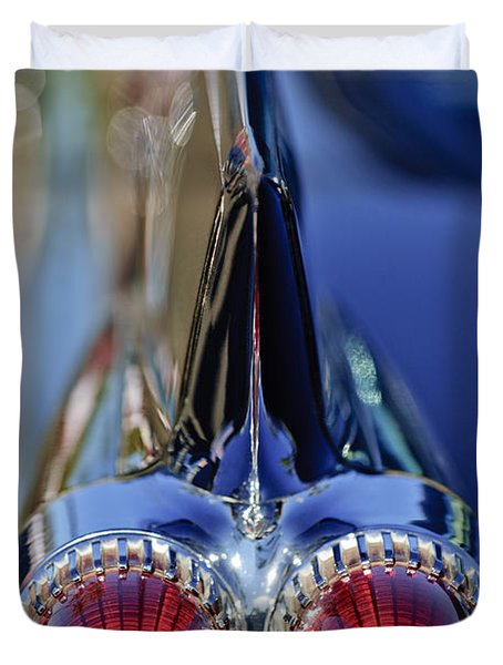 Duvet Cover featuring the photograph 1959 Cadillac Eldorado Tail Fin 4 by Jill Reger