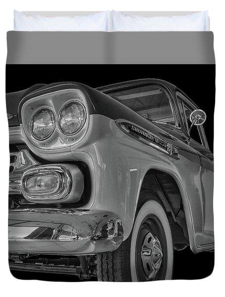 1959 Chevrolet Apache - Bw Duvet Cover