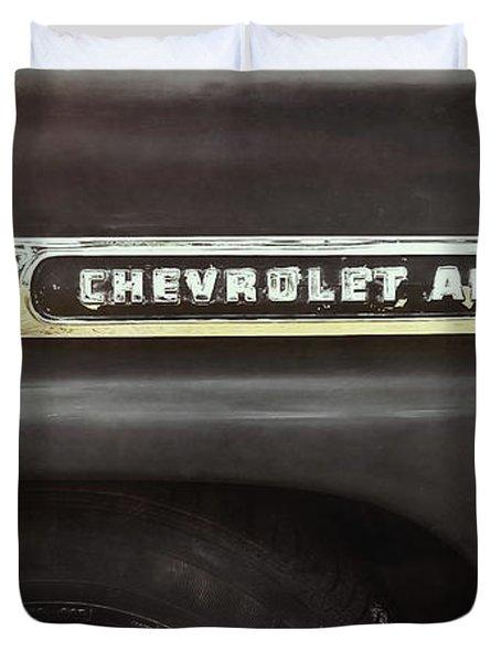 1959 Chevy Apache Duvet Cover