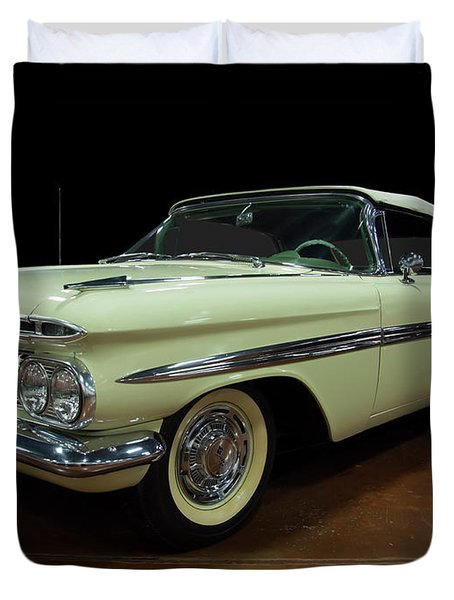 1959 Chevy Impala Convertible Duvet Cover
