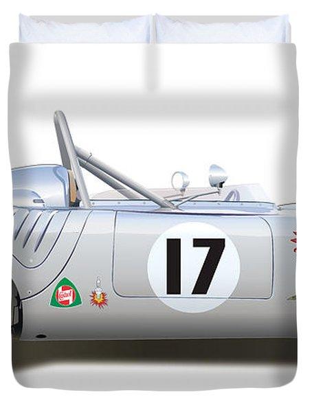 1959 Porsche Type 718 Rsk Spyder Duvet Cover by Alain Jamar