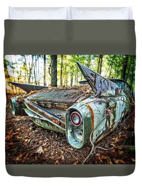 1960 Cadillac At Rest Duvet Cover