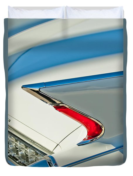Duvet Cover featuring the photograph 1960 Cadillac Eldorado Biarritz Convertible Taillight by Jill Reger