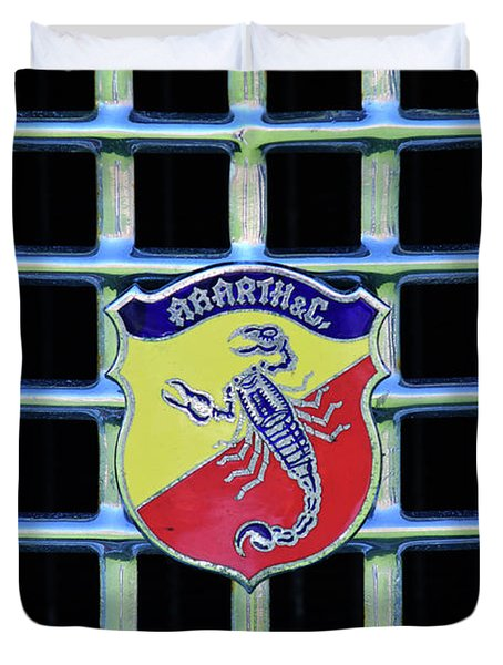 1960 Fiat Lusso Emblem Duvet Cover