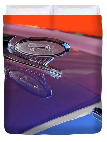 1960 Ford Starliner Hood Ornament Duvet Cover