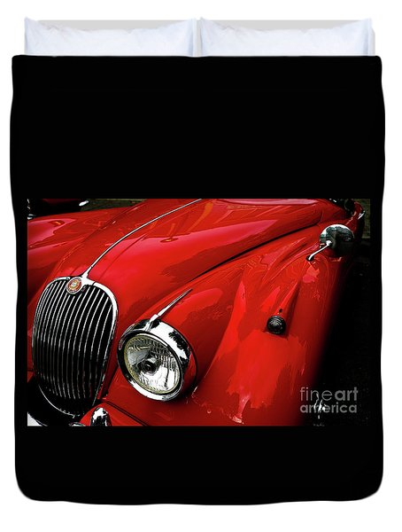 Red Jaguar Duvet Cover