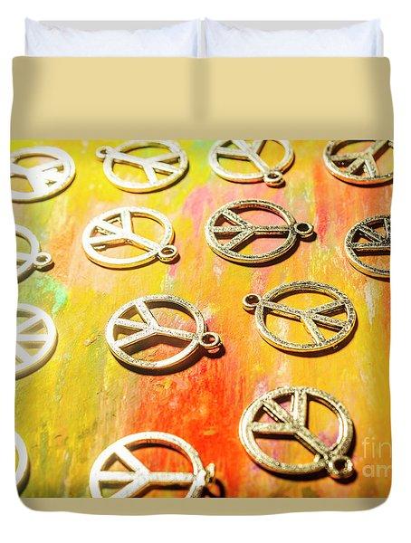1960s Peace Movement Duvet Cover
