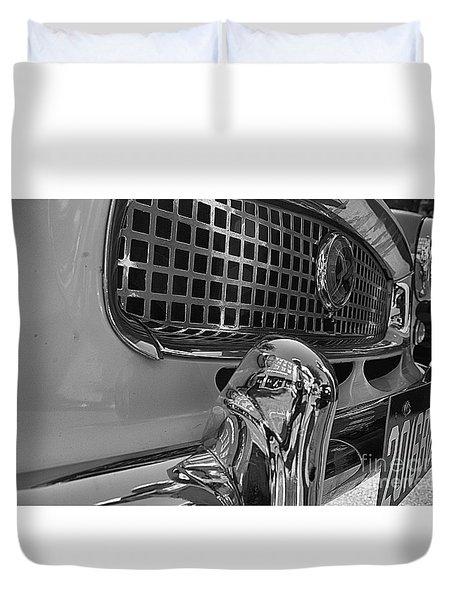 1961 Nash Metropolitan Bw Pov Duvet Cover by John S
