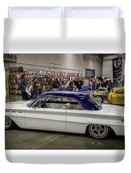 Duvet Cover featuring the photograph 1962 Buick Skylark by Randy Scherkenbach