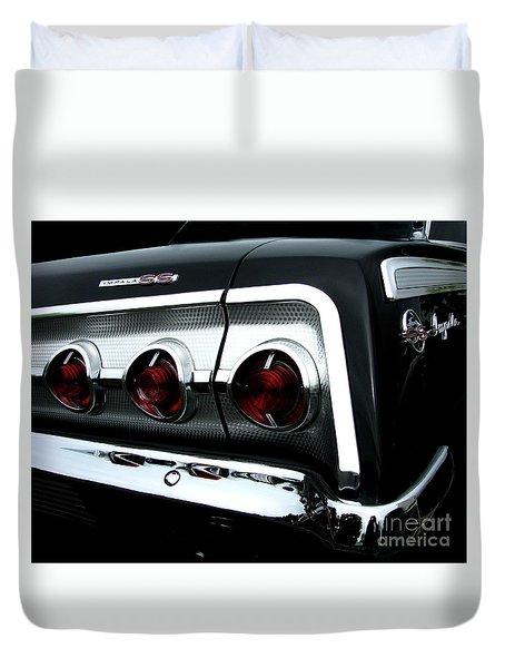 1962 Chevrolet Impala Tail Duvet Cover by Peter Piatt