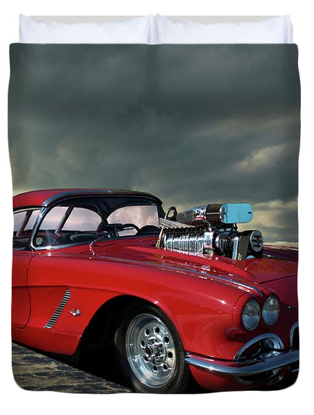 1962 Corvette Dragster Duvet Cover