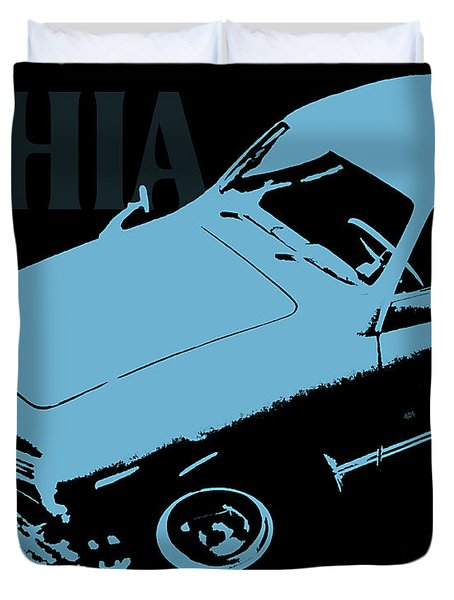 1962 Karmann Ghia Pop Art Blue Duvet Cover