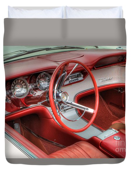 1962 Thunderbird Dash Duvet Cover by Jerry Fornarotto
