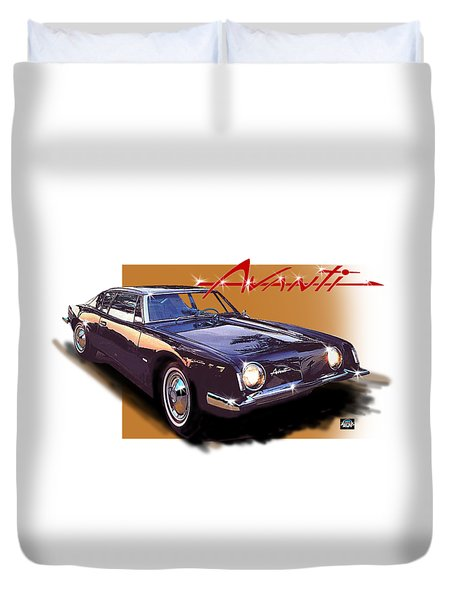 1963 Avanti Duvet Cover