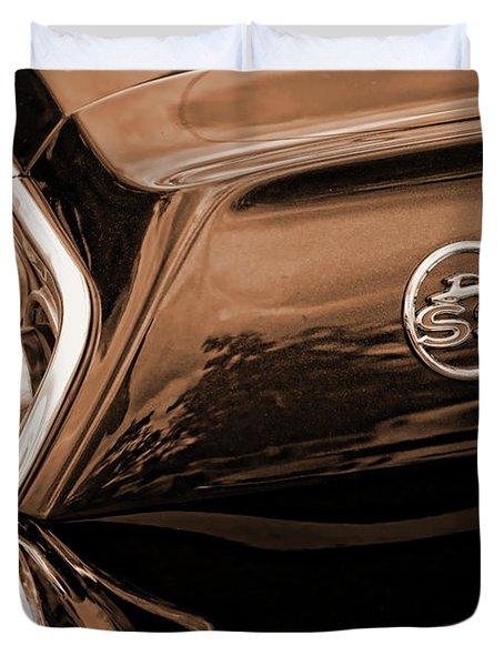1963 Chevy Impala Ss Sepia Duvet Cover by Gordon Dean II