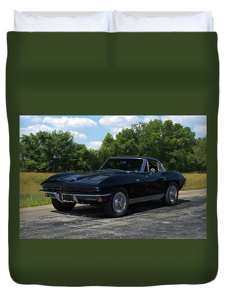 1963 Corvette Stingray Duvet Cover