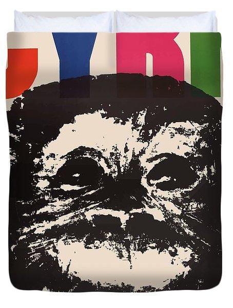 1964 Cyrk Smoking Chimpanzee Polish Circus Poster Duvet Cover