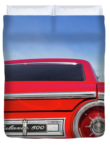 1964 Ford Galaxie 500 Taillight And Emblem Duvet Cover