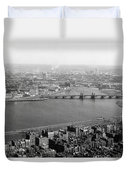 Duvet Cover featuring the photograph 1965 Boston, Cambridge And Charles River by Historic Image