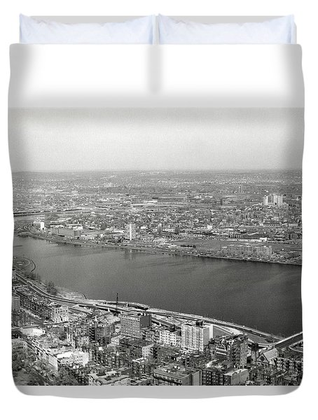 Duvet Cover featuring the photograph 1965 Cambridge And Boston Panorama by Historic Image
