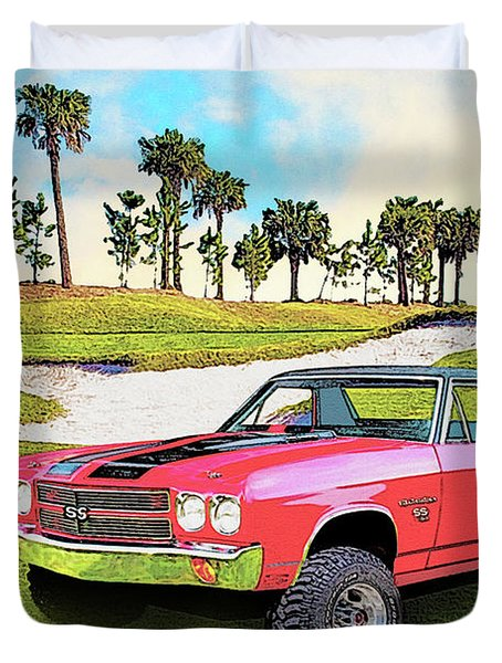 1970 Chevy El Camino 4x4 Not 2nd Generation 1964-1967 Duvet Cover