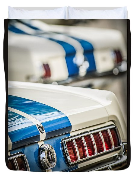 Duvet Cover featuring the photograph 1965 Ford Shelby Mustang Gt 350 Taillight -1037c by Jill Reger