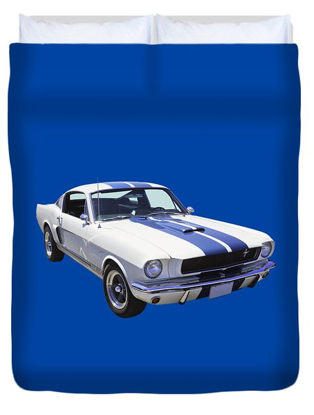 1965 Gt350 Mustang Muscle Car Duvet Cover