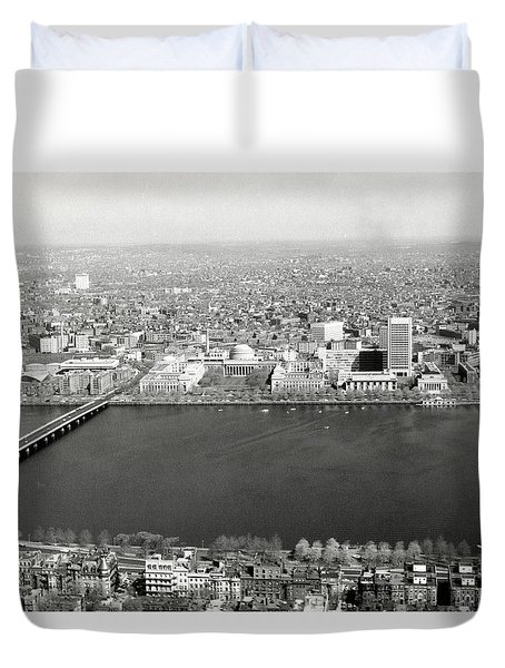 Duvet Cover featuring the photograph 1965 Mit Cambridge And Boston's Back Bay by Historic Image