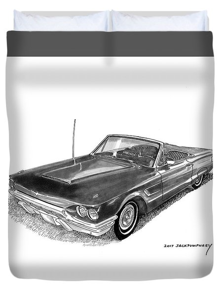 1965 Thunderbird Convertible By Ford Duvet Cover by Jack Pumphrey