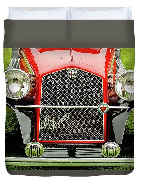 1966 Alfa Romeo Quattro Route 4r Grille Duvet Cover by Jill Reger
