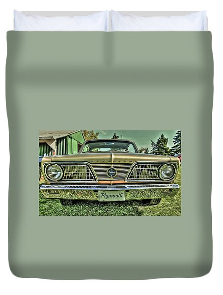 1966 Barracuda Front Duvet Cover