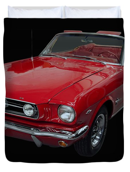 1966 Ford Mustang Convertible Duvet Cover
