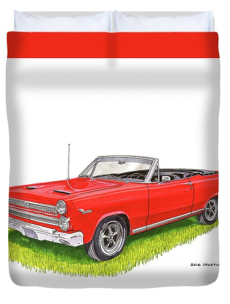 1966 Mercury Cyclone Convertible G T Duvet Cover by Jack Pumphrey
