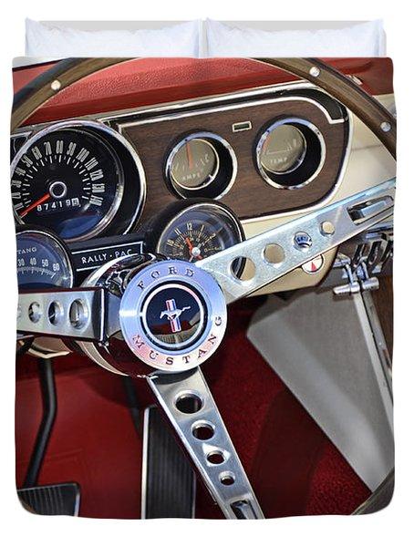 1966 Mustang Duvet Cover by Paul Mashburn