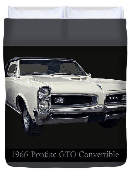1966 Pontiac Gto Convertible Duvet Cover