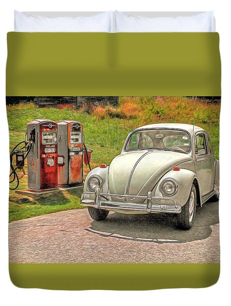 1967 Beetle Duvet Cover by Marion Johnson