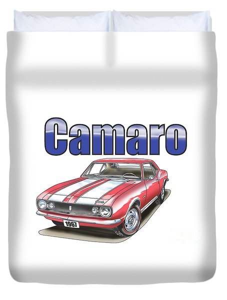Duvet Cover featuring the digital art 1967 Camaro by Thomas J Herring