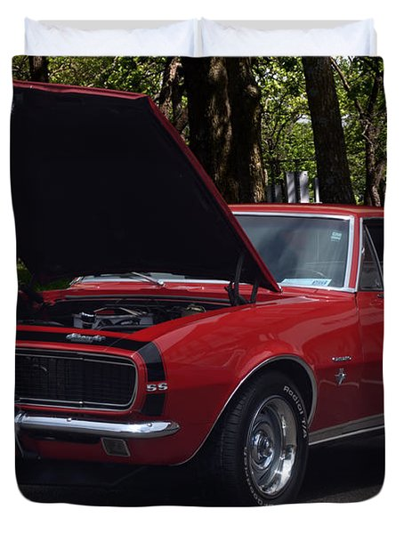 Duvet Cover featuring the photograph 1968 Camaro by Tim McCullough