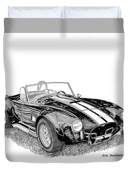 Duvet Cover featuring the painting 1967 Cobra Sc by Jack Pumphrey