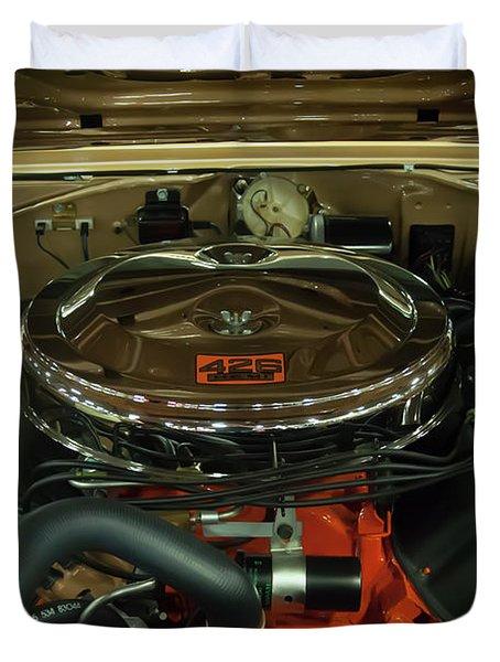 1967 Plymouth Belvedere Gtx 426 Hemi Motor Duvet Cover