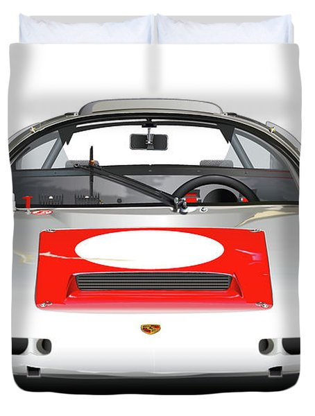 1967 Porsche 910 Illustration Duvet Cover