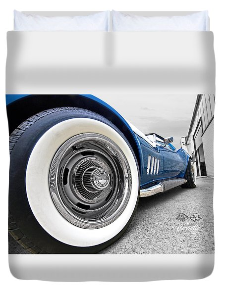 1968 Corvette White Wall Tires Duvet Cover