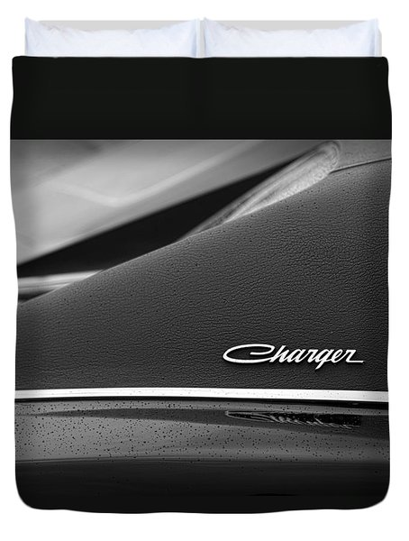 1968 Dodge Charger Duvet Cover