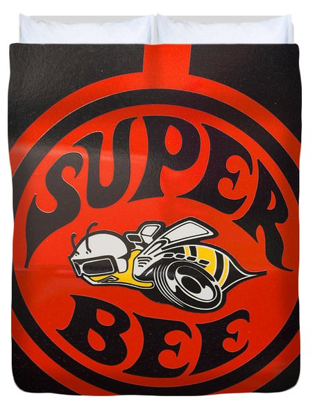 1968 Dodge Coronet Super Bee Emblem Duvet Cover