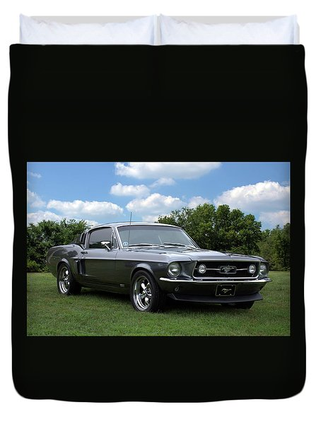1967 Mustang Fast Back Duvet Cover by Tim McCullough