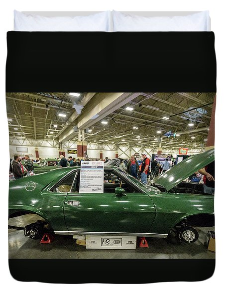 Duvet Cover featuring the photograph 1969 Amc Amx by Randy Scherkenbach
